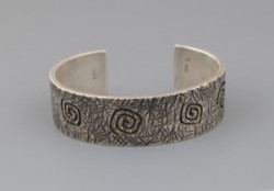 Kee Yazzie Bracelet with Whirling Symbols