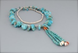 Turquoise Tab Necklace with Jaclas