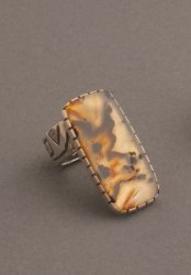Jared Chavez Silver Ring With  Agate