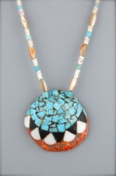 Martin Aguilar Santo Domingo Inlaid Shell Necklace