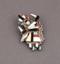 Zuni Rainbow Man Pin