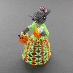Lorena Laahty Beaded Trick-Or-Treating Mouse