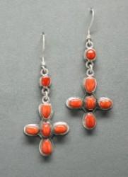 Brett Bastien Coral Cross Earrings