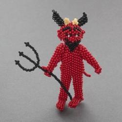 Zuni Beaded Devil by Lorena Laahty.