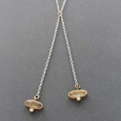 Keri Ataumbi Necklace of Silver, Gold, Diamond