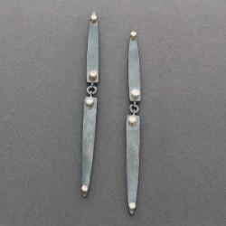Keri Ataumbi Spike Earrings of Silver Gold and Diamonds