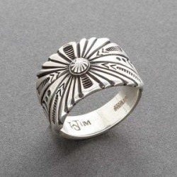 Men s Silver Ring by Navajo Artist Wilson Jim