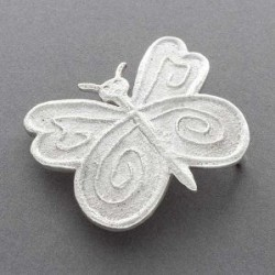 Ira Custer Silver Butterfly Buckle