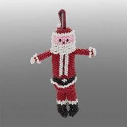 Ella Calavaza Zuni Beaded Santa Ornament