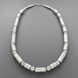 Handmade Silver Bead Necklace by Wayne Aguilar