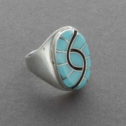 Inlay Ring by Dickie and Amy Quandelacy