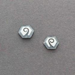 Silver Overlay Hopi Earrings