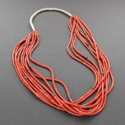 Pueblo Necklace of Coral 9 Strands