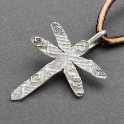 Tufa Cast Silver Dragonfly Pendant by Cheyenne Custer