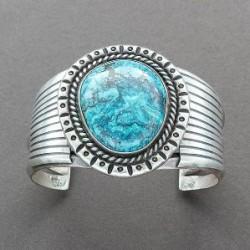 ilver Bracelet Set With Blue Diamond Turquoise