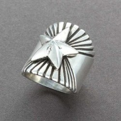 Wide Silver Star Ring by Edison Cummings.jpg