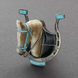 Leekya Horse Bolo Slide From C.G. Wallace Collection