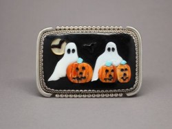 Ghost and Pumpkin Belt Buckle by Beverly Etsate