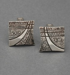 Jared Chavez Abstract Silver Cufflinks