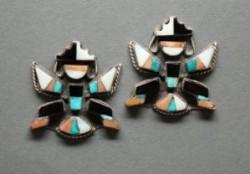 Zuni Knifewing Inlay Earrings