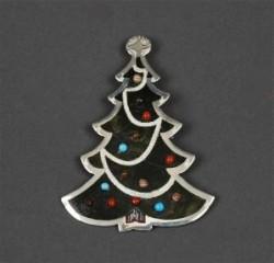 Dale Edaakie Pin of Inlaid Christmas Tree