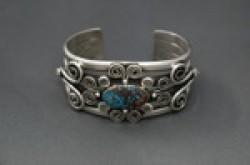 Mike Bird-Romero Bracelet with Indian Mountain Turquoise