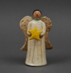 Elizabeth Manygoats Pottery Angel 2