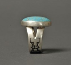 Tammy Nelson Ring of Turquoise with Crosses