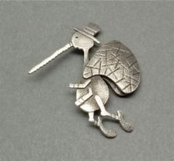 Darrell Jumbo Silver Mosquito Pin
