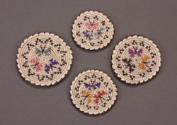 Rose Whiskers Set of Butterfly Baskets