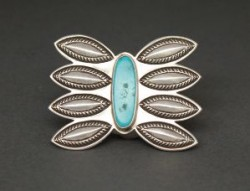 Perry Shorty Pin with Blue Gem Turquoise