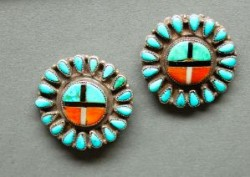 Zuni Sunface Earrings