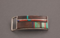 Charles Loloma Buckle of Complex Inlay