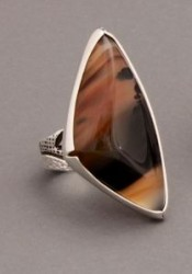 Jared Chavez Ring of Raised Agate Stone