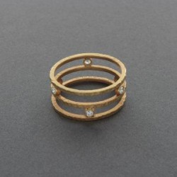 Maria Samora 18kt Gold and Diamond Ring