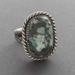 Ring of Cerrillos Turquoise by Tony Aguilar