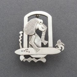 Darrell Jumbo Pin of Elephant and Flying Saucer