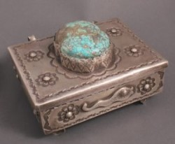 Greg Lewis Silver Box with Teddie Weahkee Frog