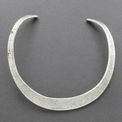 Tufa Cast Silver Choker Necklace by Ira Custer