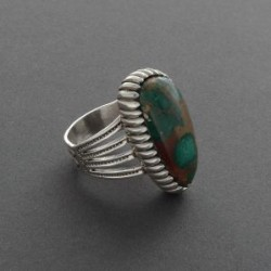 Calvin Martinez Ring of Green Turquoise