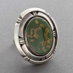 Silver and Green Turquoise Ring
