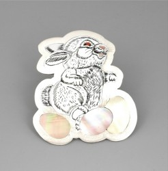 Dale Edaakie White Easter Bunny Pin