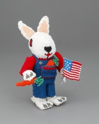Lorena Laahty Beaded Bunny With Flag