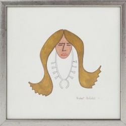Norbert Peshlakai Watercolor of Navajo Woman