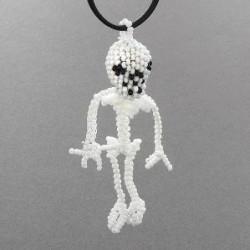 Beaded Skeleton Necklace by Farlan Quetawki